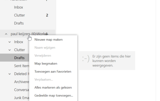 Office 365 gedeelde map